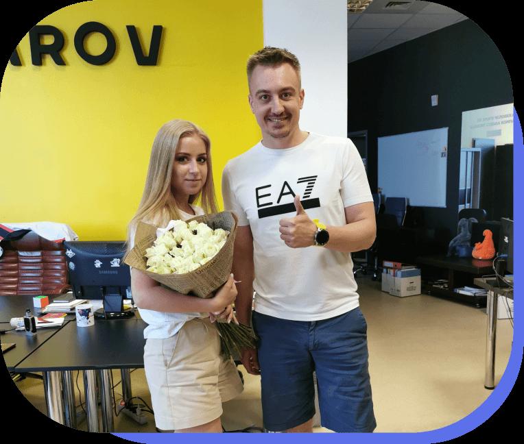 Андрей Гусаров и ученик курса интернет маркетинга